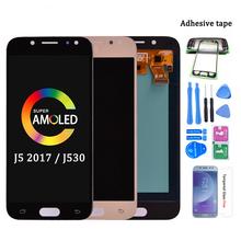 Wyświetlacz super AMOLED LCD do telefonu do Samsung Galaxy J5 J530 J530F J5 pro 2017 duos ekran dotykowy digitizer montaż J5 Duos tanie tanio CN (pochodzenie) Pojemnościowy ekran 1280x720 3 For Samsung j5 2017 J530 LCD i ekran dotykowy Digitizer Black Light Blue Gold