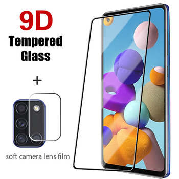 Full Cover Screen Protector for Samsung Galaxy A51 A71 A21S A31 2IN1 Front Glass + Back Len Film for Samsung M31 M51 M21 M01 M11 image