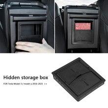 Storage-Box Organizer Car-Accessory 21-Tesla-Model Model-3 Armrest for Center-Console