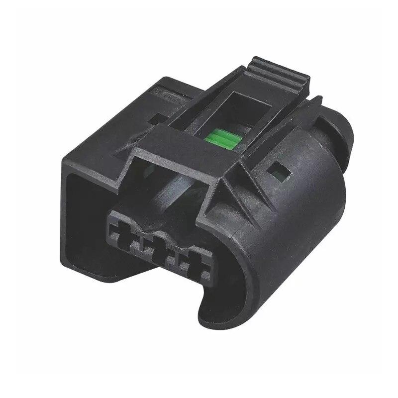 1set 3Pin 3.5mm Female Kostal Crankshaft Sensor Plug Injector Connector 09-4413-91 For Benz 09441391
