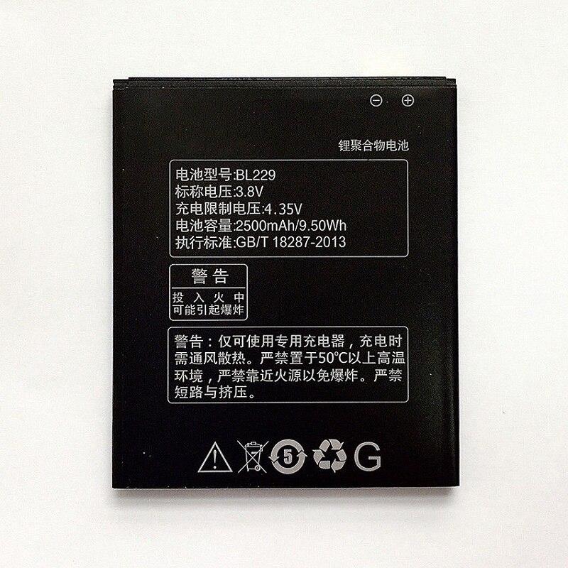 Литий-ионный аккумулятор для Lenovo A806, 2500 мАч, BL229, для смартфонов Lenovo A806