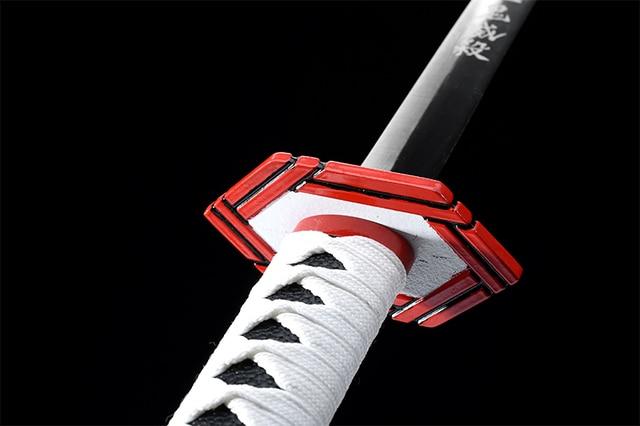 Real samurai sword anime Japanese Katana Demon Slayer Tomioka Giyuus sword handmade blade cosplay decorative