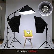 Kit de iluminação para fotografia, kit de iluminação para softbox, braço para vídeo e youtube, iluminação contínua, conjunto de iluminação profissional para estúdio de fotos