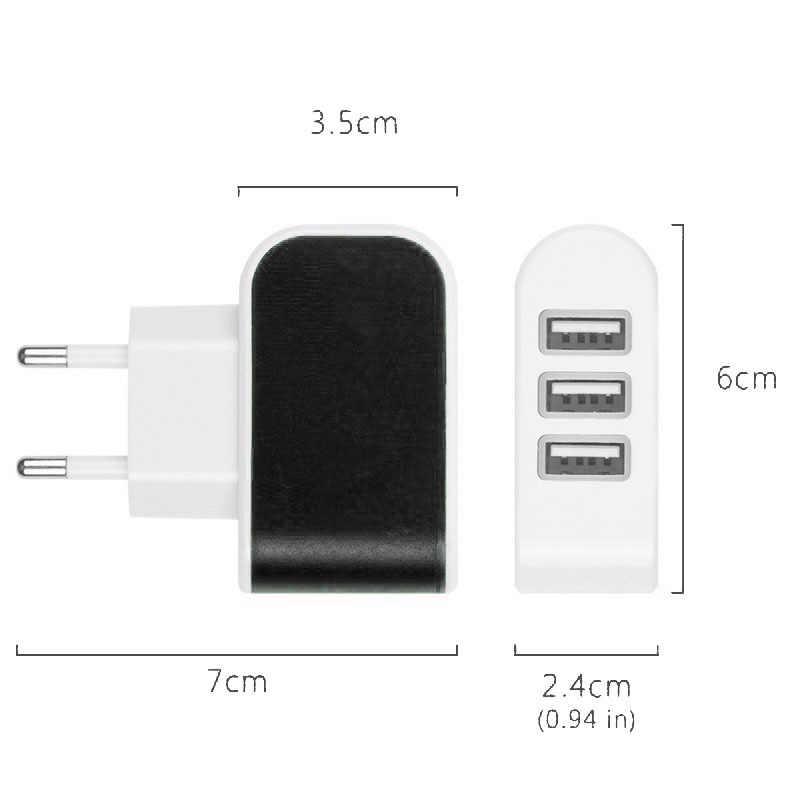 3 Usb порта зарядное устройство EU US AC домашний настенный мобильный телефон зарядное устройство адаптер для вилки для Iphone для samsung для huawei зарядное устройство