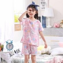 Childrens Kids Girls Pyjamas Set New Short Sleeve Sleepwear Homewear Clothing Nightwear Girl Boy Pajama Sets