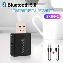 Wtyczka Bluetooth 5.0 3 in1 niebieski ząb nadajnik i odbiornik EDR 3.5mm Adapter Bluetooth Dongle AUX do komputera PC Laptop(China)