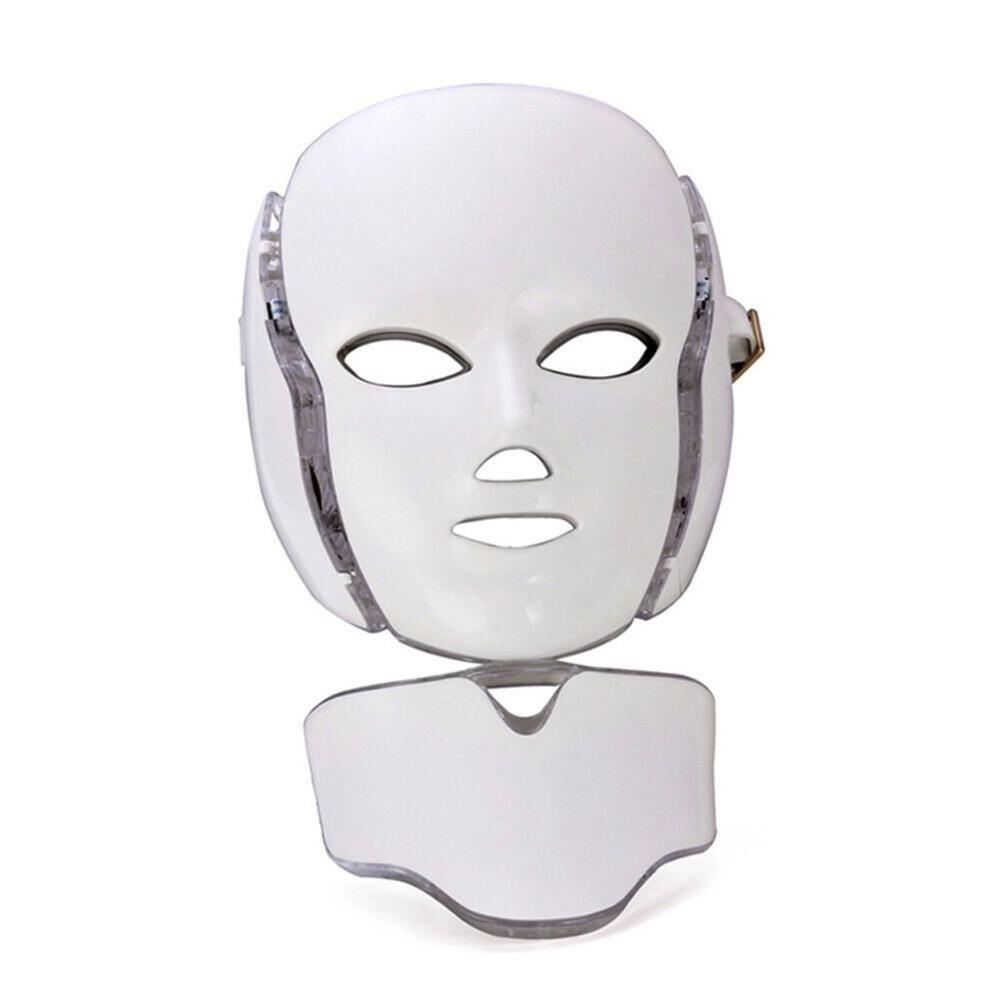 7 Color LED Facial Mask Photon Skin Rejuvenation Therapy Face Neck Mask Infrared Light Whiten Repair Skin Acne Removal Mask