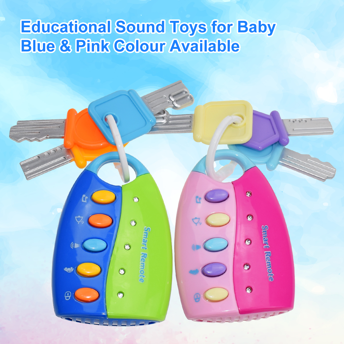 Funny Baby Toy Musical Car Key Vocal Smart Remote Car Voices Pretend Play Educational Toys For Children Baby Music Toys