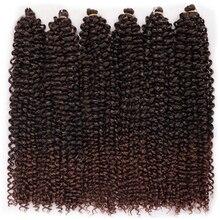 18 дюймов, плетеные волосы для плетения, синтетические волосы для наращивания, страсть, длинные, волнистые, богемные, кудрявые, вязаные волос...