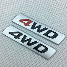 4WD Sticker Decals Trunk Emblem Badge Car-Side-Fender Ix35 Tucson Metal Hyundai Ix25