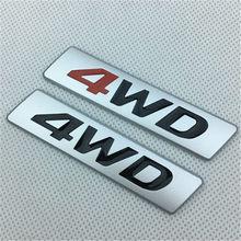 Criativo etiqueta do carro 3d metal chrome 4wd 4x4 emblema emblema decalques para mercedes amg bmw audi ford volkswagen nissan toyota honda