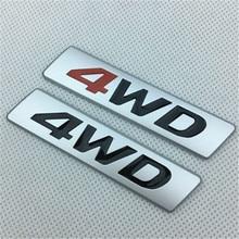 Creative Car Sticker 3D Metal Chrome 4WD 4X4 Emblem Badge Decals for Mercedes AMG BMW