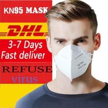 10/20pcs N95 Face Medical Mask 7 Layers 95% Filtration PPE EU CE Dustproof Anti-fog And Breathable ffp2 avigan anti corona virus
