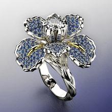 Bague De couleur en argent Sterling S925 pour femmes, bijoux en diamant De 2 Carats, pierres précieuses, anneaux De mariage, 925