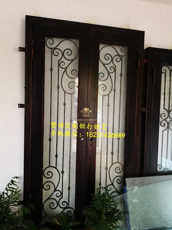 Hench Black Paint Iron Front Doors