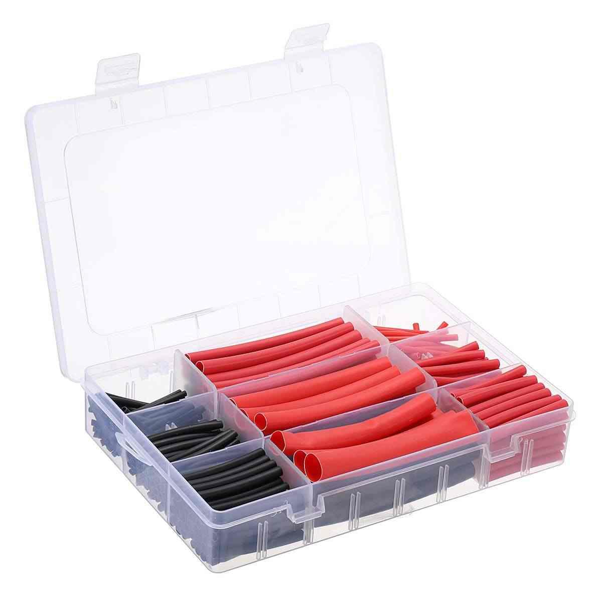 270 個 3:1 熱収縮チューブ絶縁収縮チューブ電線ケーブルラップ詰め合わせ電気絶縁スリーブキット
