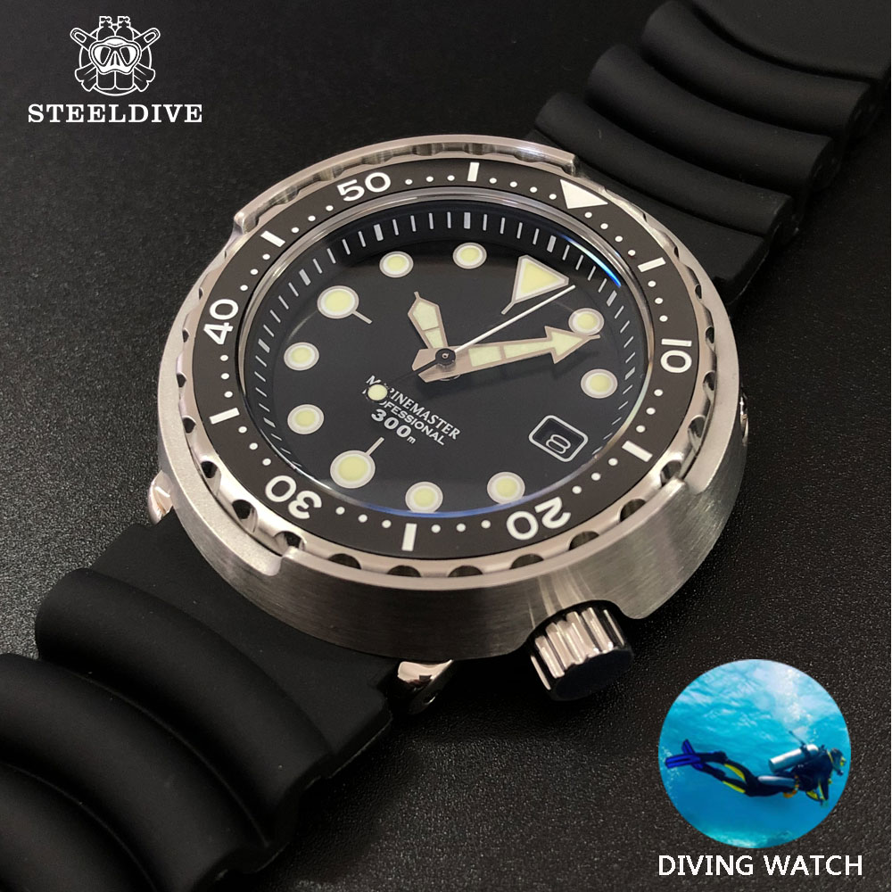 1975 First Canned Tuna Dive Watch Super Luminous Automatic Watch Man Mechanical Watch NH35 300M Diver Watches Sapphire Crystal image
