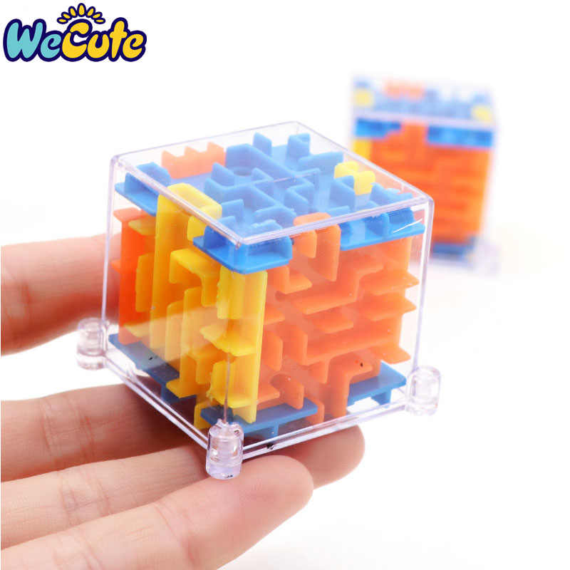 3D Cube Puzzle Maze Steel Ball Game Toys Fun Brain Game Challenge Toys Balance Educational Toys for Children For Kids Gift