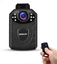 BOBLOV كاميرا مراقبة صغيرة مثبتة على الجسم ، HD1296P ، KJ21 Pro ، عدسة خارجية للرؤية الليلية