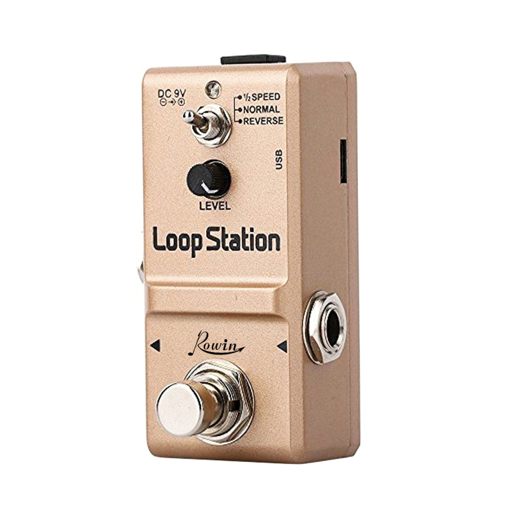 Rowin LN-332S Guitar Mini Loop Station Pedal Looper Effect Pedals For Electric Guitar 10 Min Recording Unlimited 3 Modes