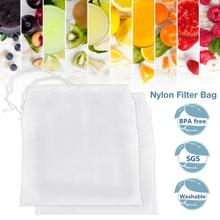 Wine Filter Bag Milk Soy Juice Nylon Nut Reusable For Straining Almond Greek Yogurt Strainer Coffee Tea Beer