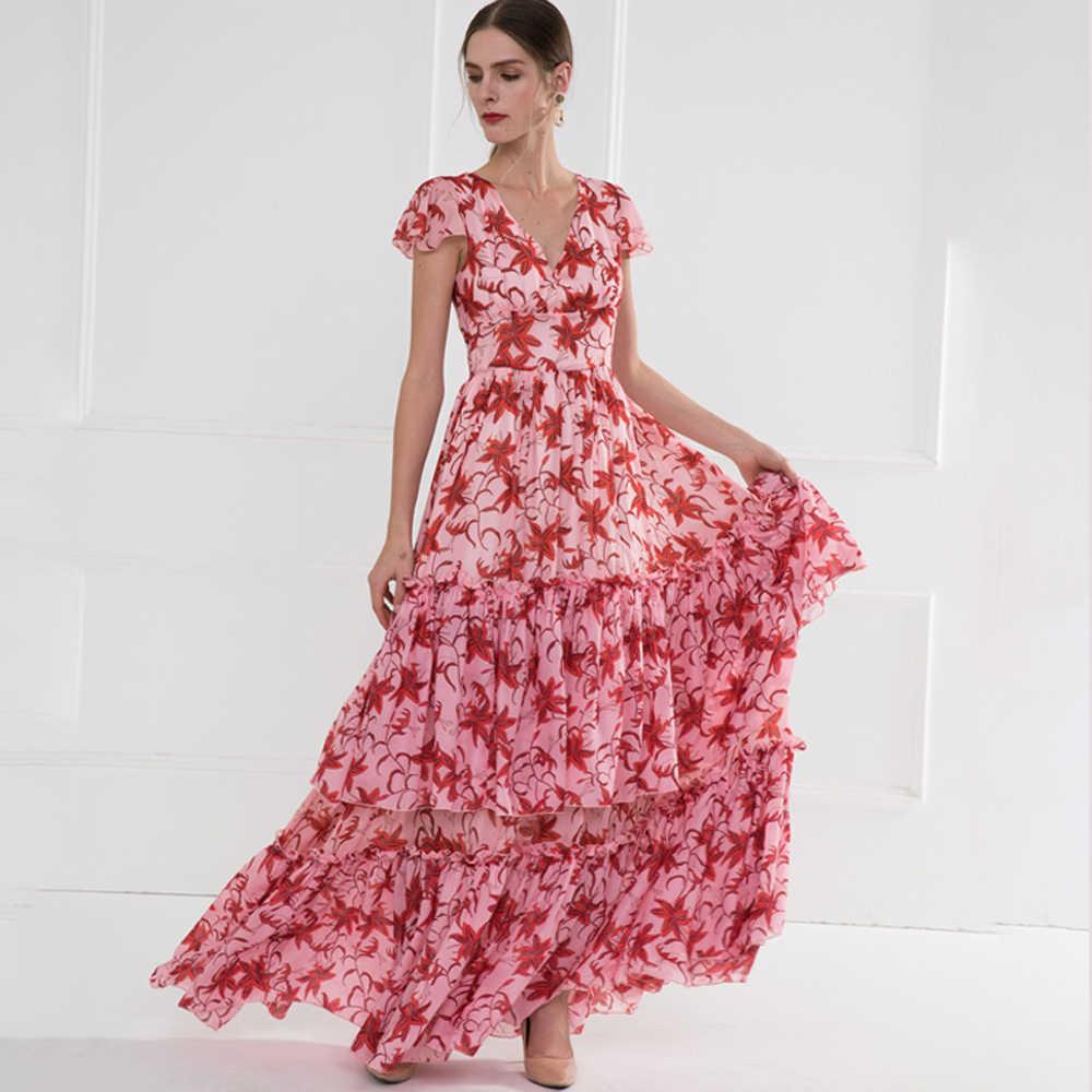 Rot RoosaRosee Designer Frauen Frühling Sommer 14 Floral Print