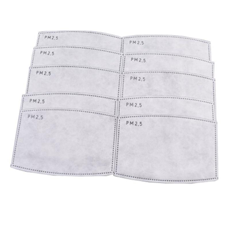 10pcs/set PM2.5 Filter Paper Anti Haze Mouth Mask Anti Dust Mask Filter Paper Health Care Self-use Masks