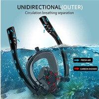 2019 nova máscara de natação anti-embaçamento  tubo de respiração dupla  tubo de mergulho  subaquático