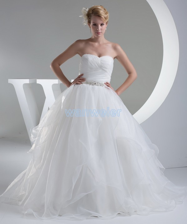 Free Shipping 2016 Design Zipper Embroidery Off The Shoulder Custom Size/color Organza Bridal Balll Gowns Eescrow Wedding Dress