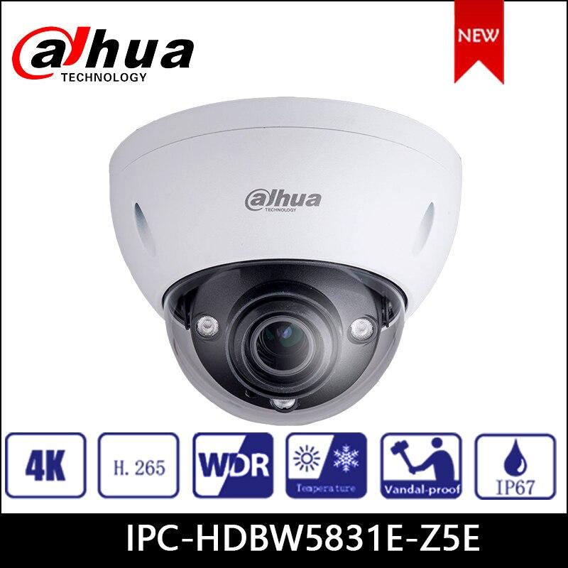 Dahua IP Camera 8MP IPC-HDBW5831E-Z5E Security Camera WDR IR Dome Network Camera support poe