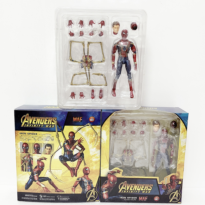 2019 New Type Avengers Endgame Infinity War Iron Spider Man Mafex 081 Spiderman Action Figure Toy Doll