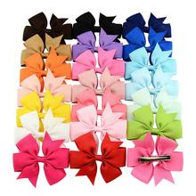 20Pcs/Lot Bow Hair Bands Tools 20 Colors Elastic Rubber Band Ties/Rings/Ropes Gum Grosgrain Ribbon Holders Accessories