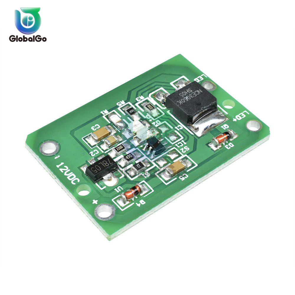 12V Smart Capacitive Touch Switch Sensor Module Push Button Touching Key Module Jog Latch With Relay DC 6-20V 3A