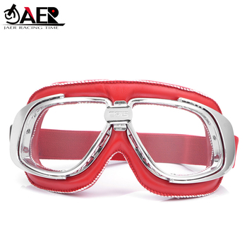 JAER Motorcycle Helmet Goggles With Multi Lens Riding Cycling Biker Glasses for Motorbike ATV Cafe Racer Pit Bike Googles motorcycle atv riding scooter driving flying protective frame clear lens portable vintage helmet goggles glasses for 2009 buell xb12r