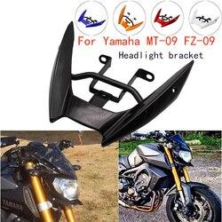 Motocicleta farol frontal superior carenagem ficar suporte de montagem para yamaha MT-09 mt09 mt 09 FZ-09 fz09 fz 09 2014 2015 2016
