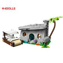2020 novas idéias tijolos os flintstones idéias compatíveis 21316 blocos de construção tijolos para crianças brinquedos puzzle presentes natal