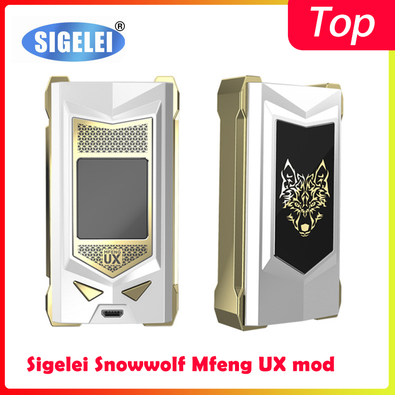 Clearence!!vape Mod Sigelei Snowwolf Mfeng UX Mod Powered By 18650 Batteries Electronic Cigarrete Vape Mod