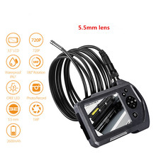 Car Endoscope Camera Flexible IP67 Waterproof Snake Cam Boroscope Camera HD 5.5mm Industrial Endoscope with 3.5