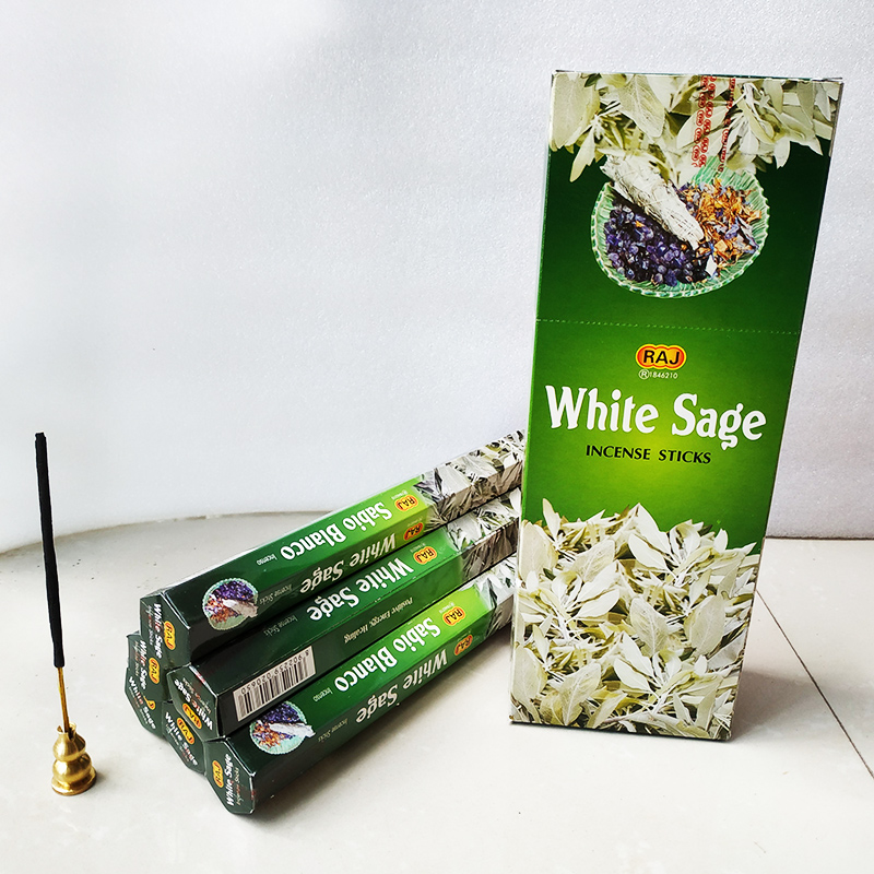One Small Box White Sage Stick Incense Handmade Natural Meditation Yoga Room Incense Indian Flower Scent Tibetal Room Fragrance