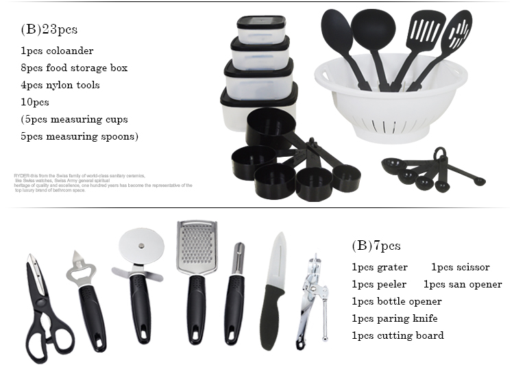 2020 Panelas De Ceramica Arrival Fda Top Fashion Cookware set Cooking Pots And Pans Set 35 Piece Kitchen Starter Combo Utensil