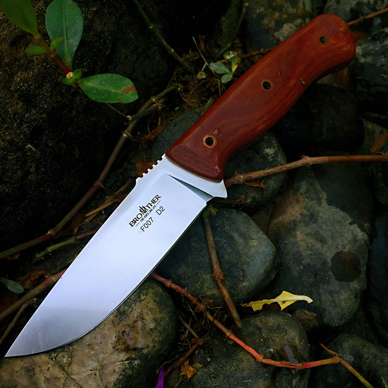 BROTHER F007  61HRC D2 blade Fixed Blade knife Bushcraft Knives Straight Tactical Hunting Camping high quality EDC tool