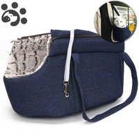 Animaux transporteur pour chat sac de transport pour chats sac à dos pour chat Panier sac à main voyage petit sac en peluche chiot lit produits pour animaux de compagnie Gatos