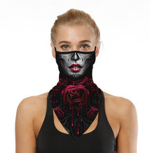 #R40 3D Print Halloween Face Cover Mouth Scarf Outdoor Print Seamless Ear Hook Sports Scarf Neck Tube Face Riding Hiking Scarves(China)