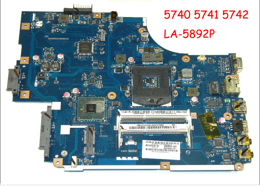 NEW70 LA-5892P Fit For 5742 5742G Laptop Motherboard MBWJU02001 Tested