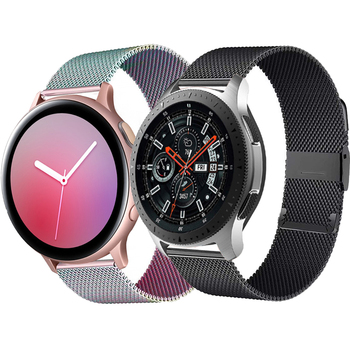 stainless steel bands for samsung galaxy watch s5 42mm 46mm watchbands gear sport s2 s3 s4 milanese loop magnetic buckle strap Milanese loop strap For Samsung Galaxy watch 3 46mm/42mm Active 2 Gear S3 Frontier 20mm 22mm bracelet correa Huawei GT/2/2e band