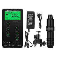 Tattoo Power Supply  Touch Screen T-700 Digital LCD Permanent Makeup Eyebrow Motor Set with Rotary Rocket V3 Tattoo Machine Pen
