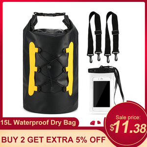15L Waterproof Dry Bag High Quality Waterproof Dry Bag Outdoor Sport Swimming Rafting Kayaking Sailing Bag With Phone bags