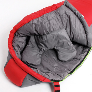 Mummy Sleeping Bag  Cotton Ultralight Outdoor Hiking Climbing Sleeping Bag Splicing Thickened Thermal Heated Sleep Bag in Winter 5