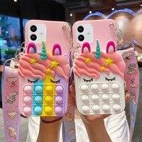 Portamonete Pop Case per Xiaomi Redmi 4A 4X 5 5A 6A 7A 8 8A 9 9A 9i 9C 9T K20 K30i K30s K40 Pro Plus Unicorn Bubble Wallet Cover