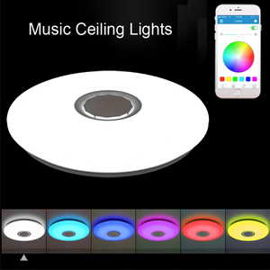 Image 1 - מוסיקה LED תקרת אורות RGB APP ושלט רחוק תקרת מנורת שינה 25W 36W 52W סלון אור lampara דה techo